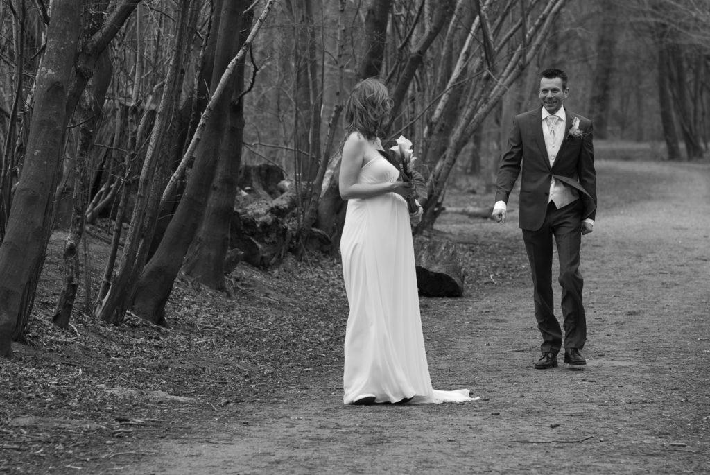 bruiloft, sven, fotograaf, sander, evelyn, almere, omgeving, bruiloft, huwelijk, bos, buiten, natuur, zwanger