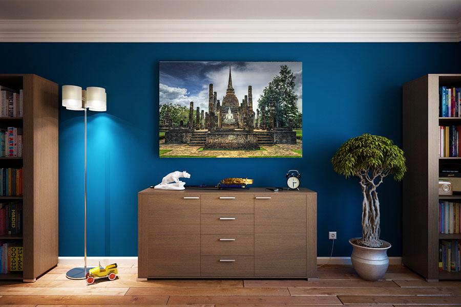 werk, muurdecoratie, wanddecoratie, sven, thailand, print, canvas, sukhothai, reizen, backpack, tempel, boeddha