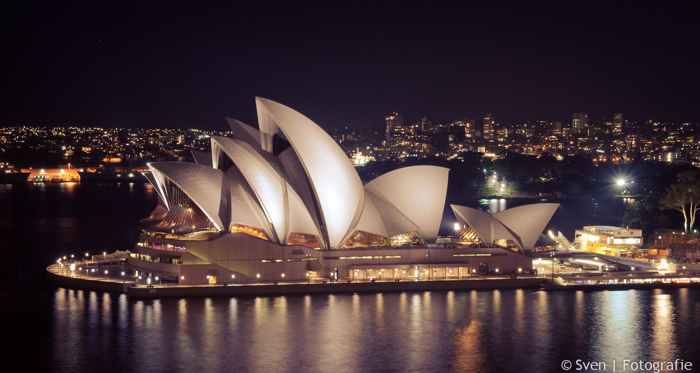 Opera House, night, nacht, Sydney, Australië, Sven, Fotografie, Harbour Bridge